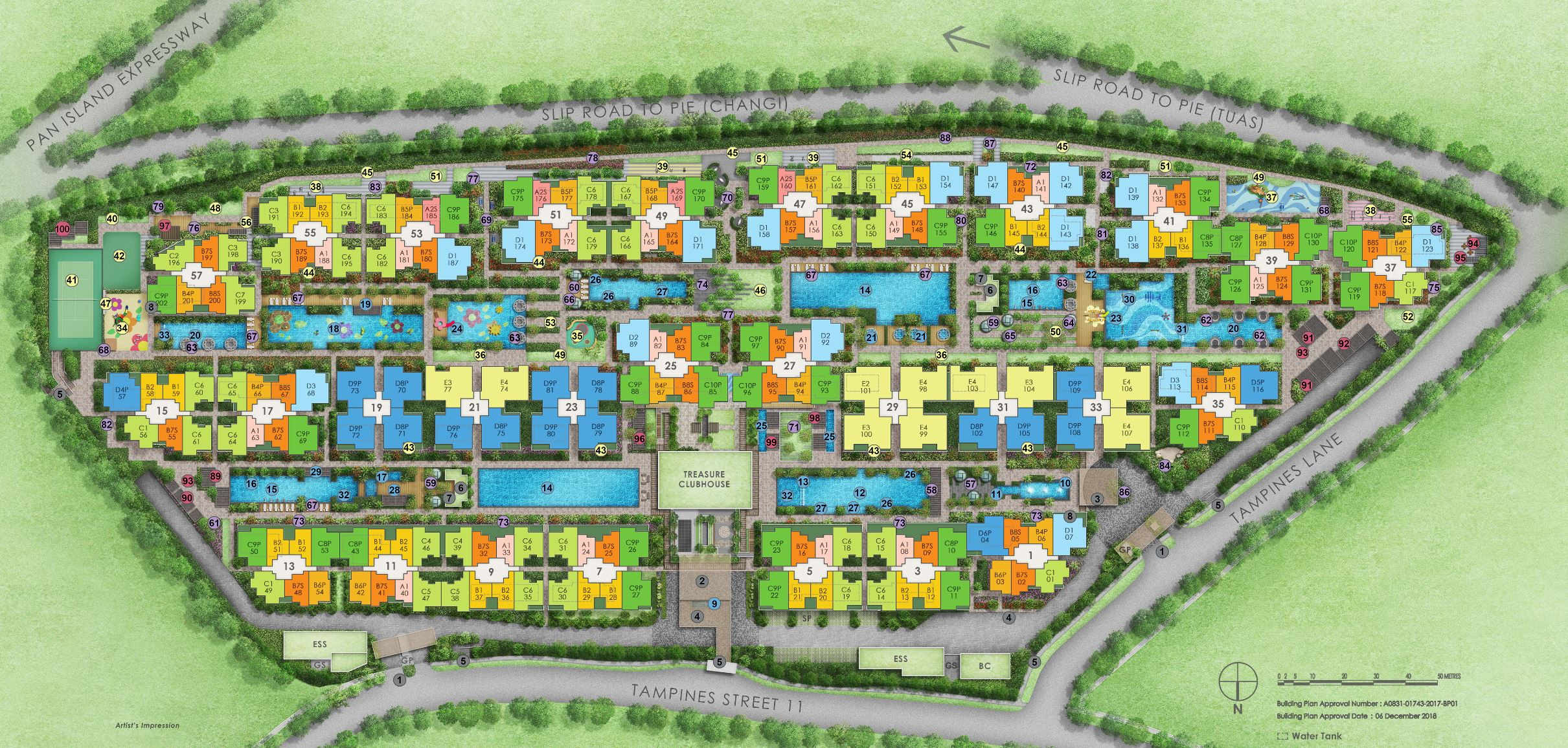 Treasure At Tampines Site Plan and Facilities