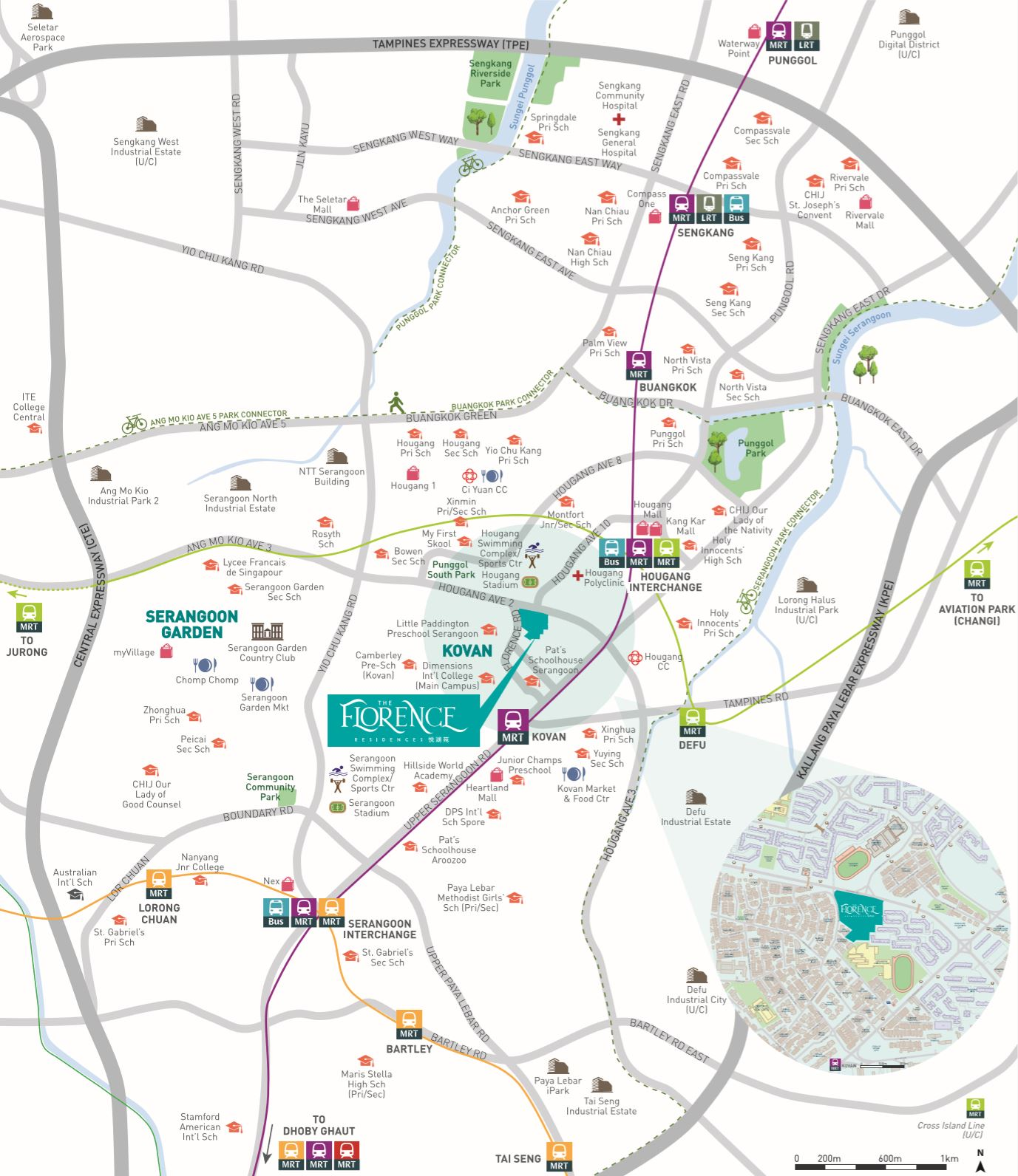 The Florence Residences Condo Location Map