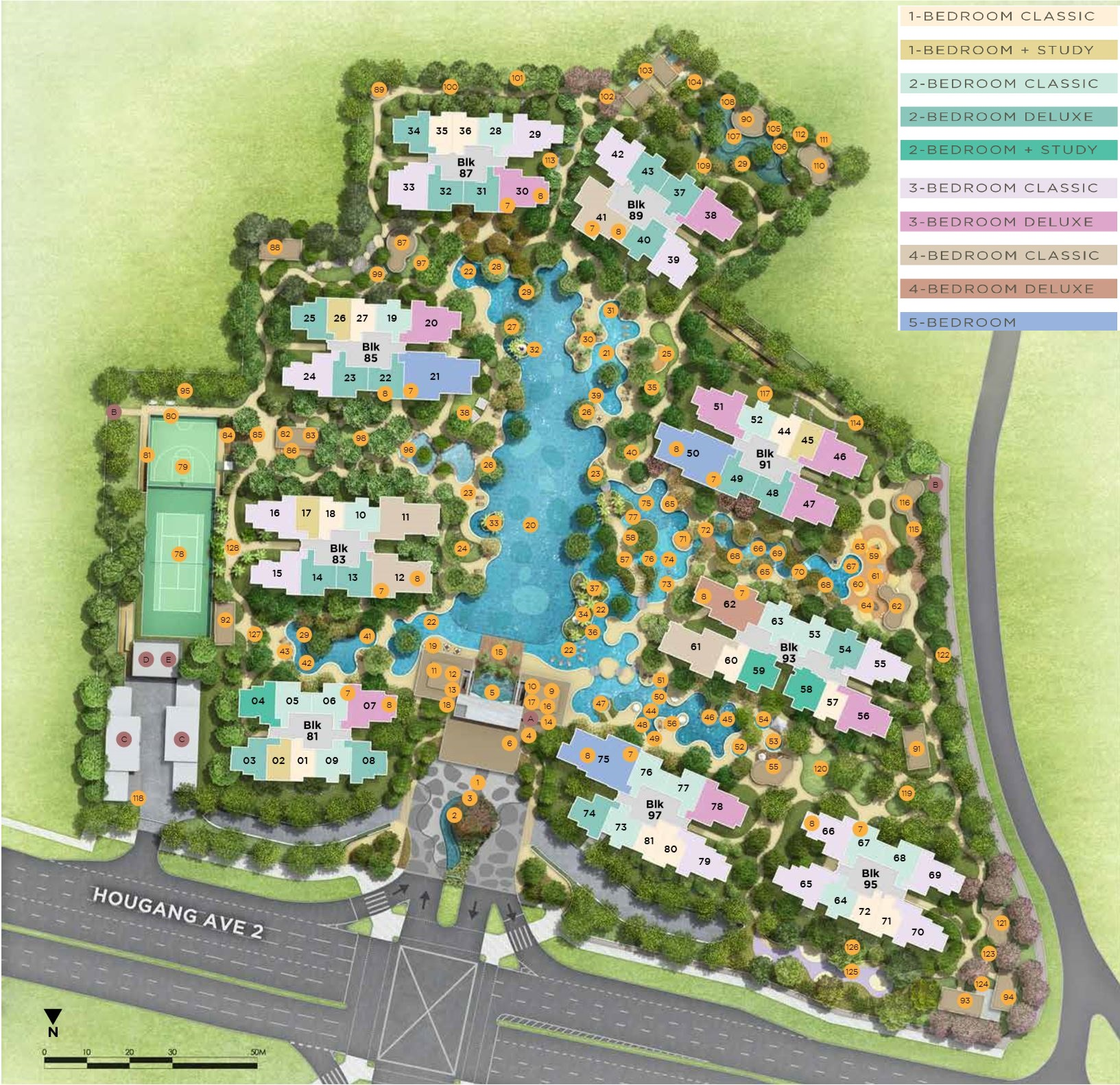 The Florence Residences Site Plan and Facilities