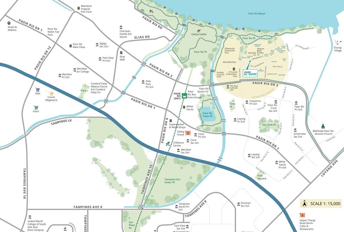 Casa Al Mare Freehold Condo Location Map