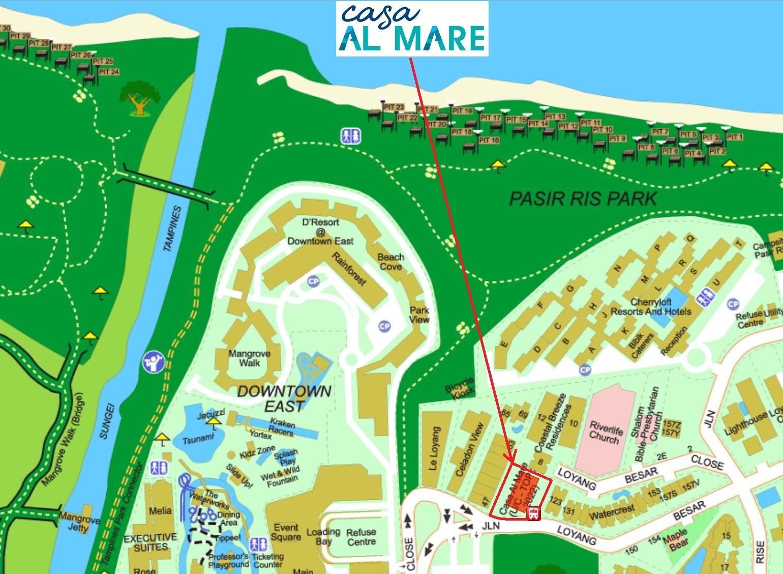 Casa Al Mare Freehold Condo Location