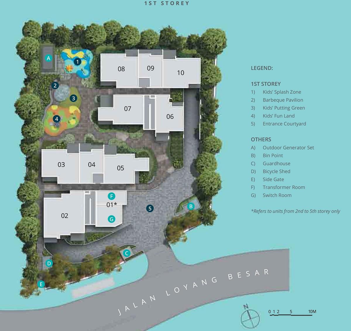 Casa Al Mare Site Plan and Facilities